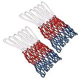 Aestm - Rete di ricambio per canestro da basket, 2 pezzi, professionale, 3 colori, per can...
