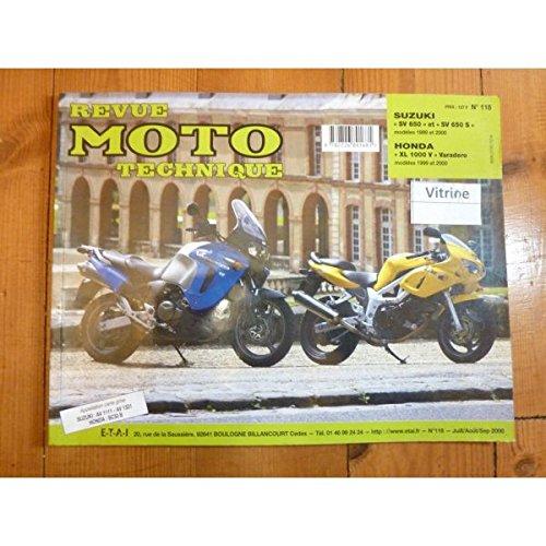 RRMT0118.1 REVUE TECHNIQUE MOTO - SUZUKI SV650 et SV650S de 1999 à 2000 - HONDA XL1000V VARADERO de 1999 à 2000
