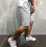 Shorts Pantalones Cortos Hombres Pantalones Cortos De Algodón hasta La Rodilla para Hombre con Cintura Elástica con Cordón Pantalones Cortos para Hombre con Bolsillos Laterales Pantalones Cortos