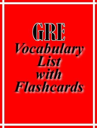 GRE Vocabulary List with Flashcards (English Edition)