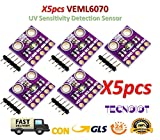 TECNOIOT 5pcs VEML6070 UV Sensitivity Detection Sensor Module CJMCU-6070 GY-VEML6070