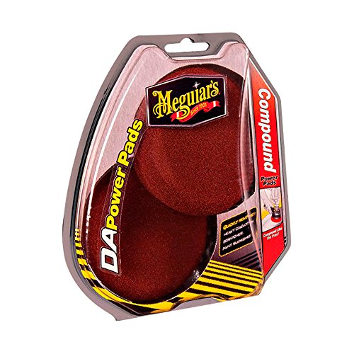 Meguiar`s ME G3507INT Power Pads Compound 4 pour Dual Action Polisher, Set de 2 Pièces