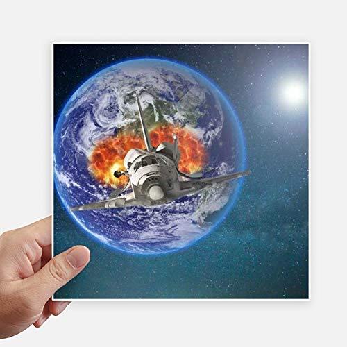 DIYthinker Erde Raumschiff Bunte Planeten Stickers 20Cm Wand Koffer Laptop Motobike Aufkleber 4Pcs 20cm x 20cm Mehrfarbig
