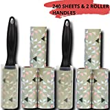 STUSH Lint Rollers with Cover & 6 Refills (60 Sheets Each) for Clothing