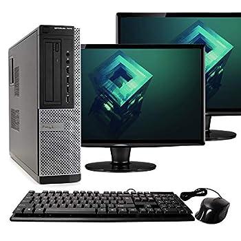 Dell Optiplex 7010 Desktop PC Intel Core i5-3470 3.2 GHz 8GB RAM 500GB HDD Keyboard/Mouse WiFi Dual 17  LCD Monitors  Brands Vary  DVD Windows 10  Renewed