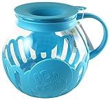 Ecolution Micro-Pop Microwave Popcorn Popper 3QT - Temperature Safe Glass w/Multi Purpose Lid, Family Size (Turquoise)
