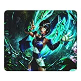 Karma League Legends Large Gaming Mouse Pad with Water-Resistant Long Foldable Keyboard Mat for Work Gaming