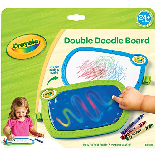 My First Crayola Double Doodle Board, Drawing Tablet, Toddler Toy, Gift