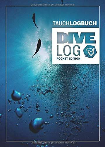 Tauchlogbuch I Dive Log Pocket Edition: Kleines Logbuch als Geschenk für Taucher & Scuba Diver zum dokumentieren von 80 Tauchgängen I Inhaltsverzeichnis I Format: DIN A6 I 84 Seiten I Luftblasen