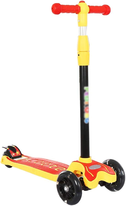 te hará satisfecho Scooter Scooter Scooter 2-6-8-12 Cuatro Ruedas Flash Flash de un Solo Giro Swing Coche Folding Scooter para Niños FANJIANI (Color   Rojo)  a la venta