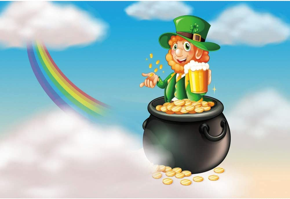 Max 88% OFF Leyiyi 8x6.5ft Happy New products world's highest quality popular St. Patrick's Backdrop Day Photography for