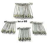 Narayana Jewellers Metallic Medium and Large Size Safety Pins for Women - Set