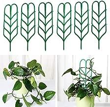 6PCS Plant Vine Trellis Bundle Pack Leaf Shape Supports Flowers Vines Potted Support Indoor Plant Trellis Stakes for Climbing Plants (6PCS)