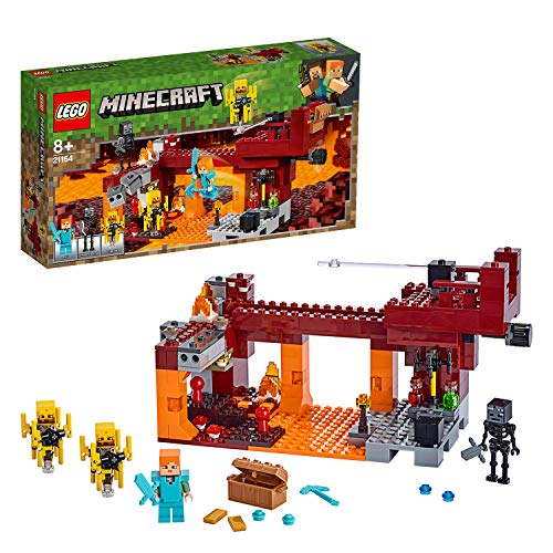 LEGO- Minecraft Game Ponte del Blaze Giocattolo, Multicolore, 21154