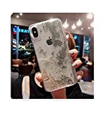 Quicksand Coque en silicone liquide pour iPhone 6 6S 7 8plus x XR XS 11 Pro Max de luxe simple...