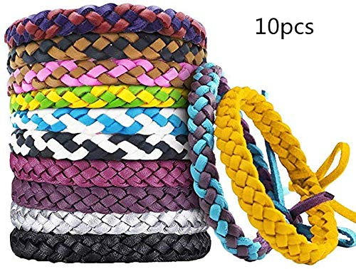 Kiyu Natural Waterproof Wristband, Adult Children pet Natural Waterproof Wristband, Outdoor Travel Protection 10 Pieces