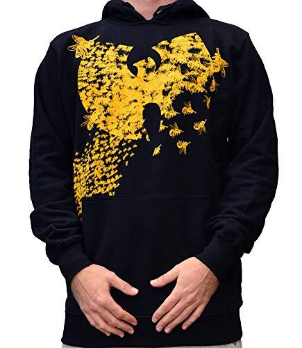 WU Wear Hoodie WU Swarm Hooded, WU Tang Clan Pull Mode Streetwear Urban, Hip Hop, pour Hommes, Noir Taille S, Couleur Black