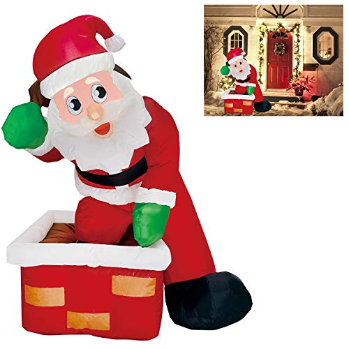 4 Foot Santa Clause Decoration With Chimney