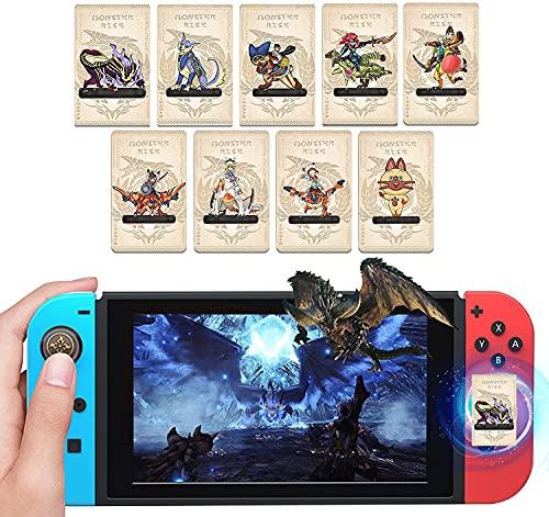 9 Piezas para Tarjetas Monster Hunter Rise Amiibo, Tarjeta NFC Incluye Magnamalo Palamute Palico, Tarjetas Monster Hunter Rise Amiibo para Switch Switch Lite Wii U New 3DS