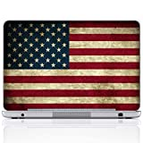 Meffort Inc 15 15.6 Inch Laptop Notebook Skin Sticker Cover Art Decal (Included 2 Wrist pad) - USA Flag