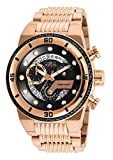 Invicta Men's S1 Rally Quartz Watch with Stainless Steel Strap, Rose Gold, 30 (Model: 25283)