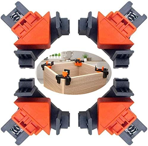 90 Degree Angle Clamps Woodworking Corner Clip Right Angle Clip Fixer Set of 4 Clamp Tool with product image