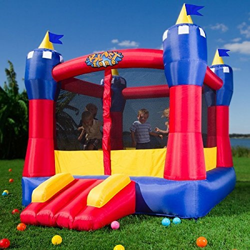 Blast Zone Magic Castle Inflatable Bouncer - Best Bounce House For Kids