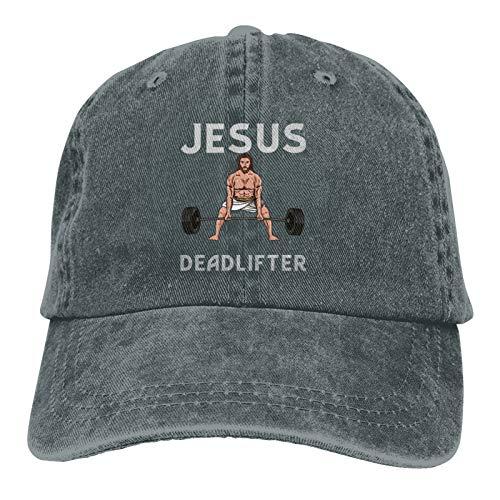 Jopath Jesus der ultimative Kreuzhebenhut Papa Hut Baseballmütze Bestickte Vintage verstellbare Unisex Baseballhut-Deep Heather