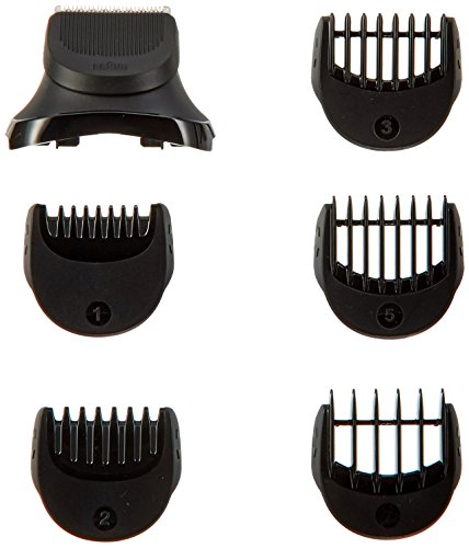 Braun BT32 Beard Trimmer Head with 5 Combs (Black)