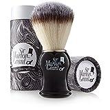 Sir Marlon Grant - Brocha de afeitar de pelo de tejón sintético (suave)