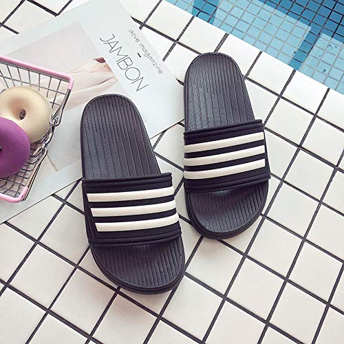 TDYSDYN Uso Al Aire Libre Baño Sandalia,Zapatillas de baño Antideslizantes en el baño, Sandalias y Pantuflas con Fondo Suave-Negro_40