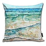 XCNGG Funda de Almohada Paiman Beach House Coastal Artwork Throw Pillow Covers 18 X 18 Inch 45 X...