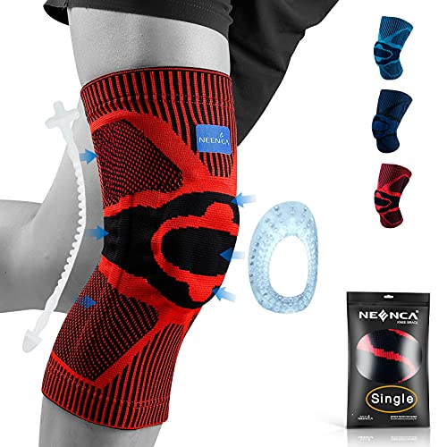 NEENCA Rodilleras, rodilleras de compresión con almohadilla de gel de rótula y estabilizadores laterales de resorte, protector de rodilla de grado médico para correr, desgarro de menisco, artritis 🔥