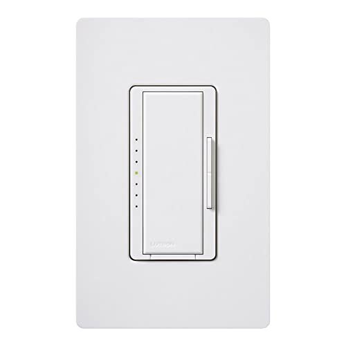 Lutron Maestro Dimmer for Halogen and Incandescent Bulbs, with Wallplate, Single-Pole,