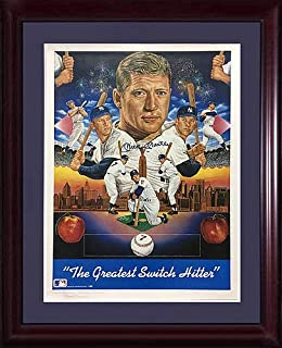 Mickey Mantle Yankees Autographed Signed Lithograph Framed Mint Auto HOF - Certified Authentic 1/1 Special