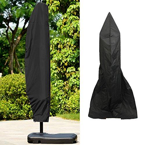 Housse de protection pour parasol déporté Couverture Étui étanche 265 cm hauben de masquage en Oxford 600D pour parasol Fermeture zippée Noir