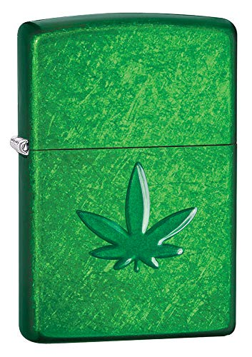Zippo Unisex's MARIJUANA LEAF, PIPE Windproof Lighter, Meadow, Regul