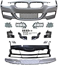 Front Bumper Conversion Compatible With 2012-2018 BMW F30 4Dr | M-Tech Style Unpainted PP Front Bumper Aftermarket Replacement Parts by IKON MOTORSPORTS | 2013 2014 2015 2016