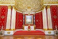 HD 7x5ft古代宮殿の背景ポリエステル壮大な装飾写真の背景室内装飾壁紙結婚式の写真の背景ビデオスタジオ写真の小道具しわなし