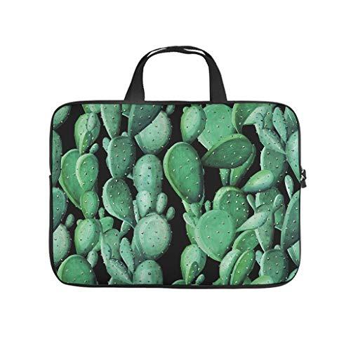 Green Cactus Plant 3D Print Laptop Sleeve Protective Case Slim Neoprene Laptop Sleeve Bag Personalised Tablet Bag Bag for Boyfriend Girlfriend