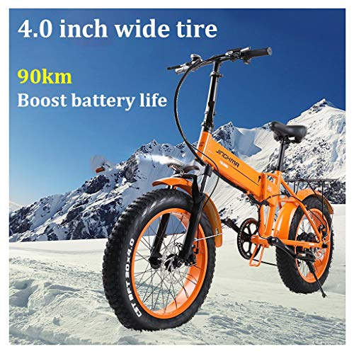 Logo Adult Electric Bikes Mens Mountain Fat Tire Bike Aluminum Alloy E-Bikes Bicycles All Terrain 20' 48V 350W Lithium-Ion Battery Bicycle Ebike for Outdoor Cycling Travel Work Out