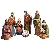 Belén de Navidad Grande de 7 Figuras de Resina de 25 cm - LOLAhome