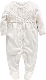 8568777168484 Pyjama Bébé Filles Barboteuses Combinaisons en Coton Grenouillères Princesse  Outfits Vêtements de Naissance