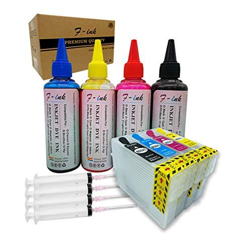 F-ink Ersatz-Tintenpatronen für 603 oder 603XL, nachfüllbar, 4 Stück