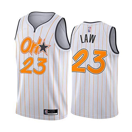 HS-XP Orlando Magic # 23 Vic Ley 2021 Ocio Men's NBA Basketball Fan Jersey Transpirable Quick-Secking Anti-Arrugas V Cuello Chaleco Camisa,Blanco,XXL(185~190cm)