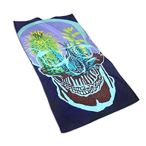 Genertic 27.5 * 15.7in Hand Handdoek Schedel Terrarium Zachte Super Absorbent Fluffy Handdoek Katoen Gepersonaliseerd Vierkant Gezicht Zacht Hotel Bad