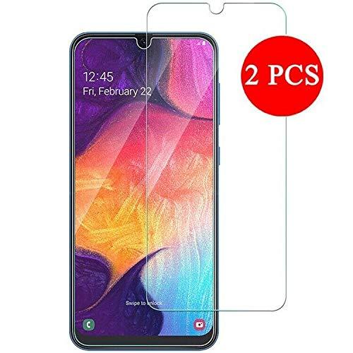 aktrend 2X Schutzfolie für Samsung Galaxy A50 / A30 / M30 Samsung Galaxy A50 Panzerglas Blasenfrei HD Klar Gehärtetem Glas Displayschutz