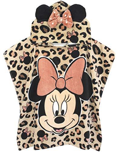 Disney Poncho de Toalla para niña Minnie Mouse | Regalo de Bata con Capucha