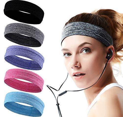 HLenyoy Sport Athletic Headband for Yoga Running Sports Travel, Non Slip Workout Headbands&Sweatband for Women Men
