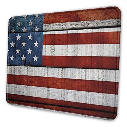 Mouse Pad, Us Flag American Flag Red White Blue Stripes Stars Mouse Mat, Waterproof Office Mouse Pad